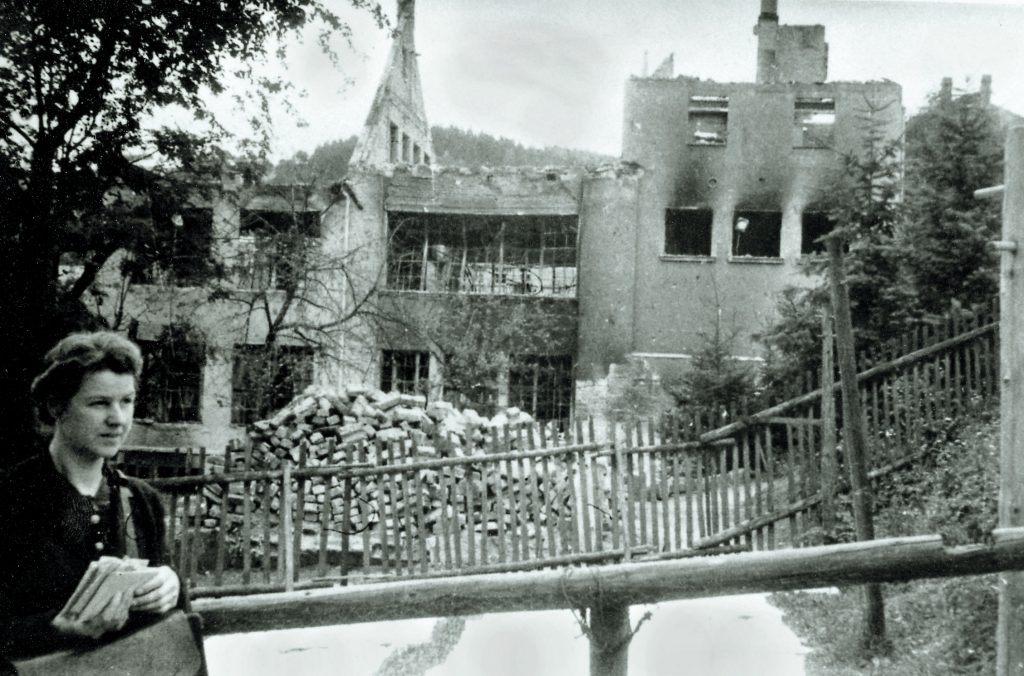 A. Lange & Söhne: Company building destroyed, 1945