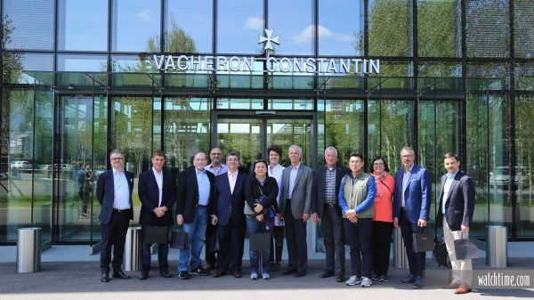 The Participants of WatchTime's 2017 Reader Trip in front of Vacheron Constantin's HQ in Geneva